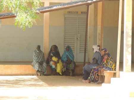 Outside the main clinic in Douentza